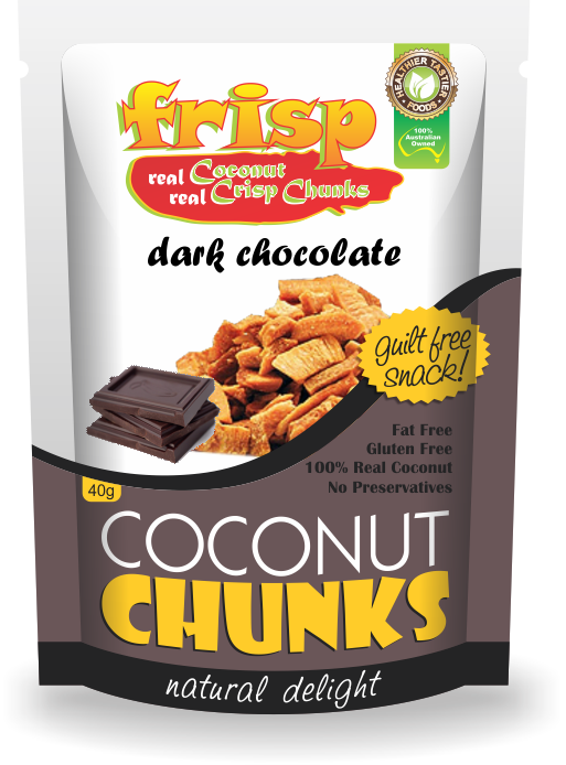 Coconut dark chocolate Chunks